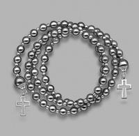 Браслет Rico La Cara с камнями гематита и подвесками в форме крестов