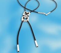 Чокер-галстук (колье) серебро 700103