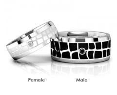 Парные кольца из стали