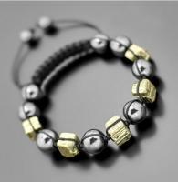 Шамбала из натуральных камней желтый пирит Rico La Cara 5190
