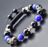 Браслет shambhala из камней синего и черного агата Rico La Cara 5146