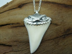 Кулон, амулет зуб белой акулы (коллекционный)
