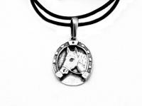 "Кулон талисман медальон ""Подкова-лошадь"" серебро 925"
