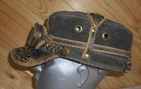 Кепка с очками  демисезонная кожанная 1955