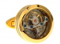 Запонки из ювелирной стали с часовым механизмом CL017G