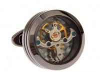 Запонки из ювелирной стали с часовым механизмом CL017BL