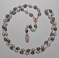Мужские бусы с с черепами из говлита Rico La Cara 2190