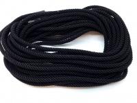 Круглый витой шелковый шнур  диаметром 3 мм