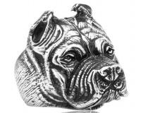 Кольцо из стали Собака