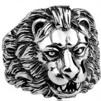 Кольцо из стали Лев