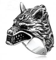 Кольцо из стали Лютоволк Dire Wolf