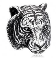 Кольцо из стали Тигр