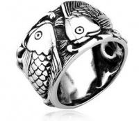 Кольцо из стали Рыбы