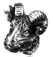 Кольцо из стали Тибетская антилопа