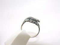 Кольцо серебро Ящерица