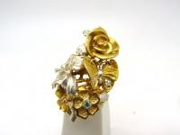 Кольцо серебро Бабочки в.1