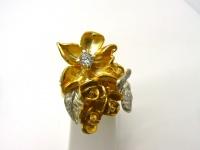 Кольцо серебро Бабочка в.3