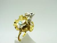 Кольцо серебро Кролик