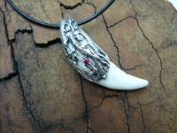 Кулон амулет клык волка серебро вид 1