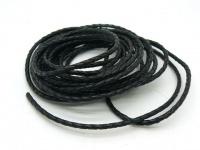 Шнур кожаный плетеный толщиной 3,5 мм
