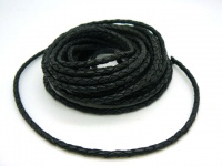 Шнур кожаный плетеный толщиной 4 мм