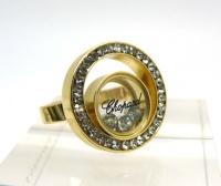 Кольцо из стали позолота СHOPARD