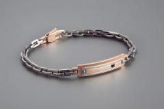 Мужские браслеты из стали, вольфрама, керамики, драгоценных камнейINORI