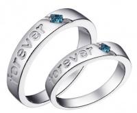 Кольца обручальные из серебра парные OK-14