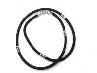 Чокер шнур каучуковый 3 мм серебро  228