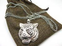 Кулон тигр сталь