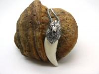 Кулон-амулет-оберег-талисман клык волка  модель 5