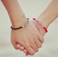"""Парные вязаные браслеты """"Для нее, для него"""""""