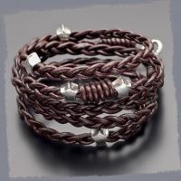 Кожаный плетеный браслет Rico La Cara 3196
