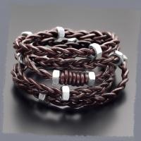 Кожаный плетеный браслет Rico La Cara 3197