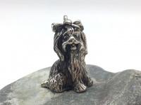 """Кулон-подвеска с собакой """"Болонка"""" серебро"""