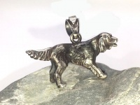 "Кулон-подвеска с собакой ""Ирландский сеттер"" серебро"
