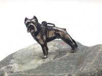 """Кулон-подвеска с собакой """"Бульдог"""" серебро"""