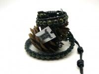 Кожаный браслет Чан Лу из бусин яшмы Rico La Cara 4130