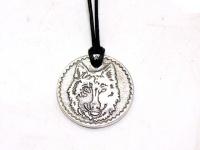 "Кулон монетка ""Волк"" серебро"