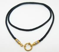 Чокер, шнур, гайтан на шею православный плетеный шелковый шнур