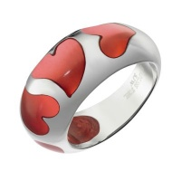 Кольцо из стали с эмалью SJW арт. RS032