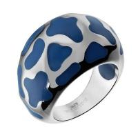 Кольцо из стали с эмалью SJW арт. RS034