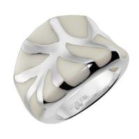Кольцо из стали с эмалью SJW арт.RS035
