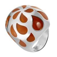 Кольцо из стали с эмалью SJW арт.RS040