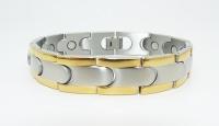Мужской браслет из титановой стали с магнитами Kronos