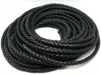 Шнур кожаный плетеный толщиной 8 мм