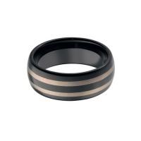 Мужское вольфрамовое кольцо с орнаментом RW039