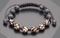 Браслет шамбала shambhala из камней агат ДЗИ черная лава  Rico La Cara 5169
