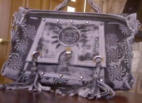 Кожаная сумка тисн