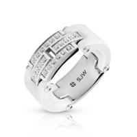 Женское кольцо из керамики SJW RC036